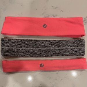 Lululemon headbands - set of 3